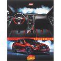 Hatber Тетрадь Super Car 48 листов в клетку цвет машины красный