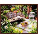 """Набор для рисования по номерам Цветной """"Уютный дворик"""", 40 x 50 см"""