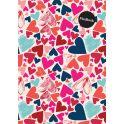 Expert Complete Тетрадь Hearts 80 листов в клетку цвет розовый формат A4