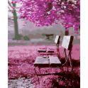 """Картина по номерам Школа талантов """"Скамья в парке"""", 2467696, 30 х 40 см"""