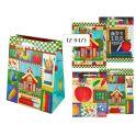 Пакет подарочный бумажный SCHOOL TZ9476 (29*21*10 см), 4 дизайна (в ассортименте)