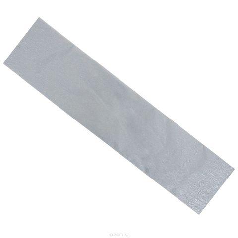 """Крепированная бумага """"Hatber"""", металлизированная, цвет: серебристый, 5 см х 25 см"""