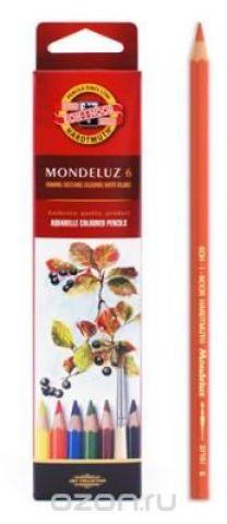 Набор карандашей акварельных MONDELUZ, 6 цв