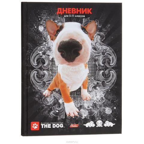 """Дневник школьный Hatber """"The Dog"""", цвет: черный"""
