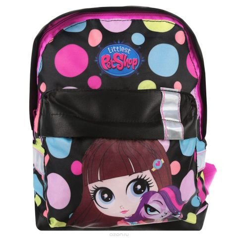 """Рюкзак детский Kinderline """"Littlest Pet Shop"""", цвет: черный, розовый. LPCB-UT3-502S"""