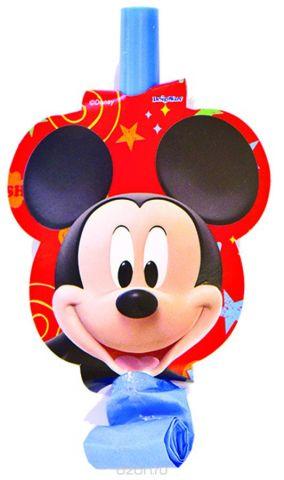 Веселая затея Язык-гудок с карточкой Микки Маус 8 шт