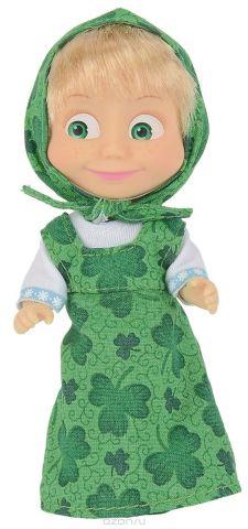 Simba Мини-кукла Маша в зеленом сарафане