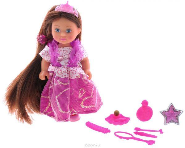 Simba Мини-кукла Еви Rapunzel цвет платья розовый