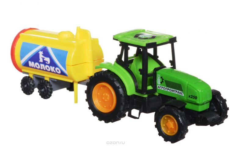ТехноПарк Трактор Агропромтранс x250 с молочной бочкой