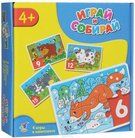 Дрофа-Медиа Пазл для малышей Играй и собирай 4 в 1 2947