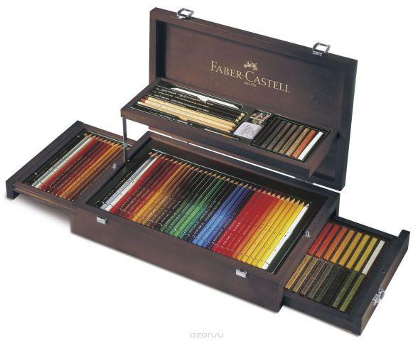 Faber-Castell Художественный набор Art & Graphic Collection в деревянном пенале 126 предметов