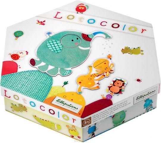 Lilliputiens Пазл-лото для малышей Лотоколор