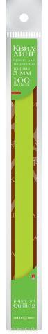 Альт Бумага для квиллинга 5 мм 100 полос цвет зеленый
