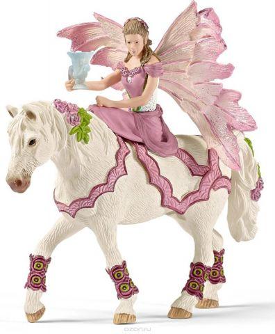 Schleich Фигурка Эльфийка Фея на лошади