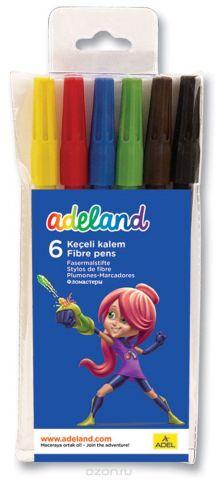 Adel Набор цветных фломастеров Adeland 6 шт