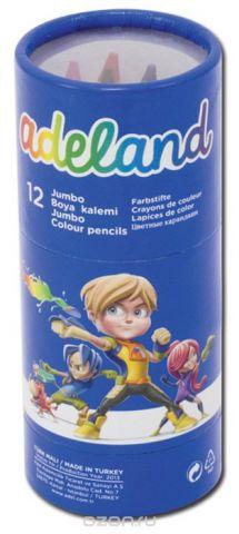 Adel Набор цветных карандашей Adeland Jumbo Hexa 12 шт