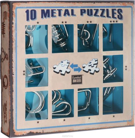 Eureka! Набор головоломок цвет синий 10 шт