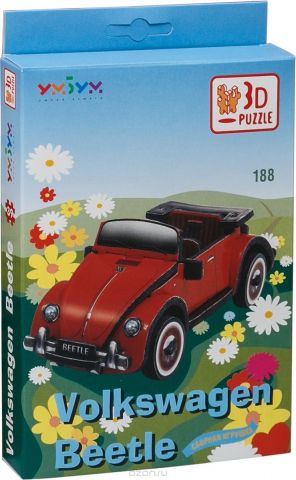 Умная бумага 3D пазл Volkswagen Beetle