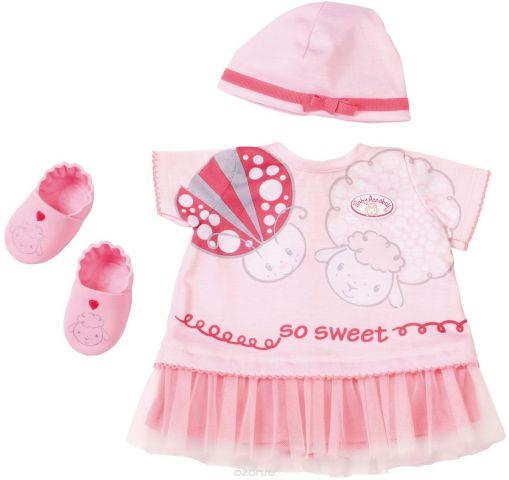 Zapf Одежда для куклы Baby Annabell Платье шапочка пинетки