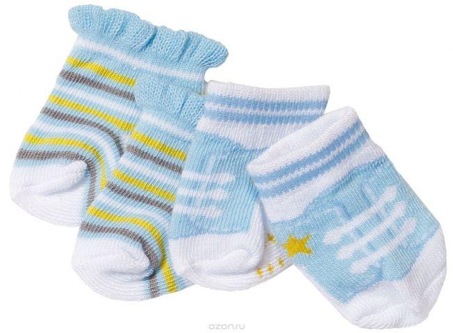 Baby Born Одежда для кукол Носочки 2 пары цвет голубой голубой, белый, салатовый