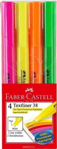 Faber-Castell Текстовыделитель 38 4 цвета