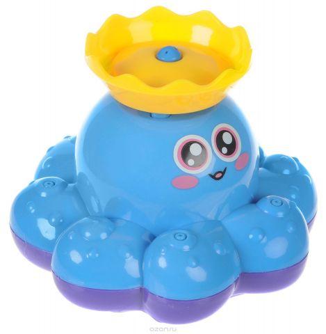 ABtoys Игрушка для ванной Осьминог-фонтан цвет голубой