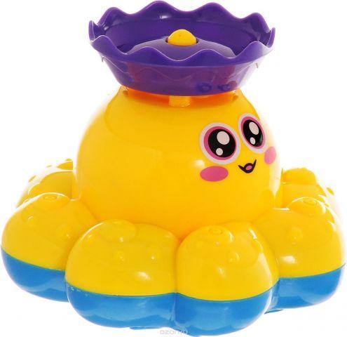 ABtoys Игрушка для ванной Осьминог-фонтан цвет желтый