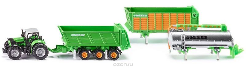 Siku Трактор Deutz Agrotron X720 с прицепами Joskin
