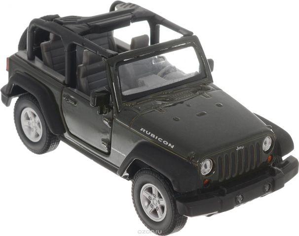 Welly Модель автомобиля Jeep Wrangler Rubicon цвет темно-зеленый
