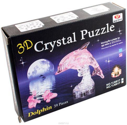 Эврика 3D Пазл Дельфин цвет розовый