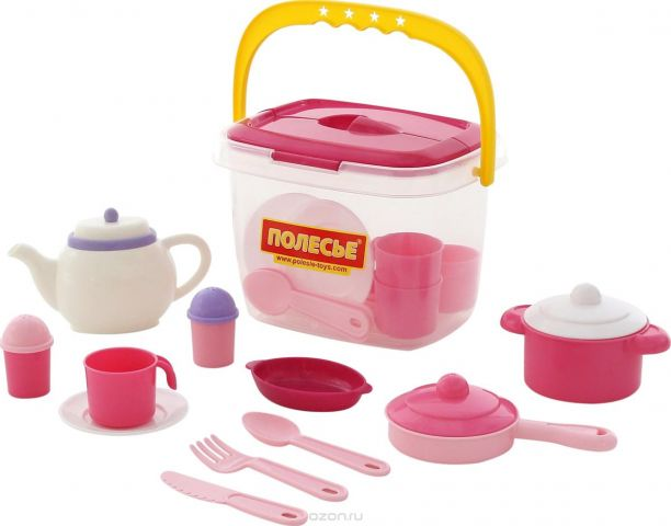 Полесье Набор игрушечной посуды Настенька 59031