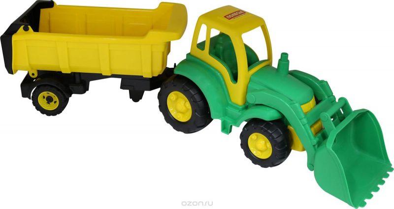 Полесье Трактор Чемпион с ковшом и полуприцепом цвет зеленый желтый