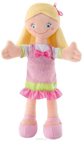 Trudi Мягкая кукла в розовом платье с бантом