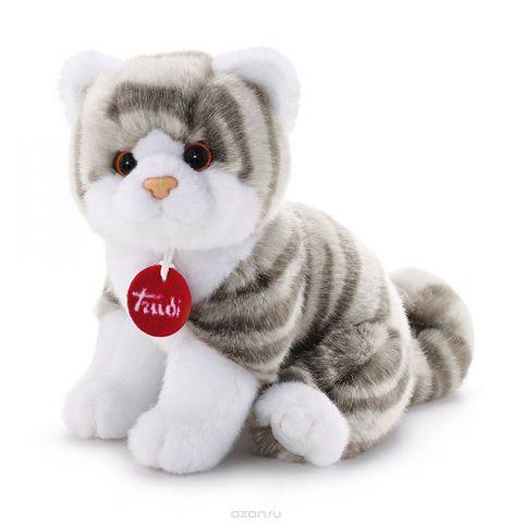 Trudi Мягкая игрушка Котенок Брэд цвет серый белый 24 см