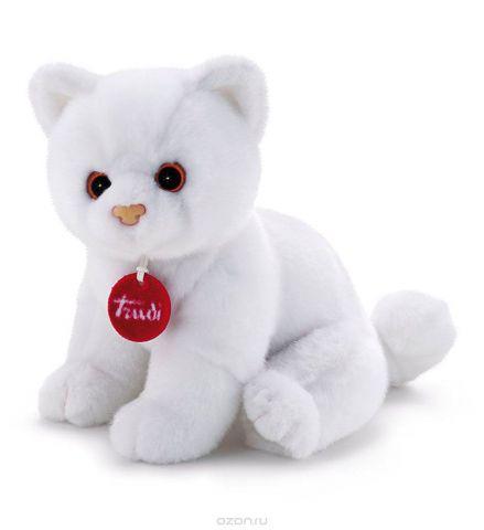 Trudi Мягкая игрушка Котенок Брэд цвет белый 24 см