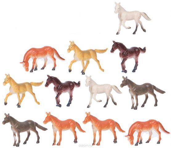 Играем вместе Набор фигурок Лошади 5 см 12 шт