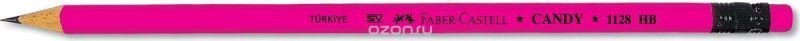 Faber-Castell Карандаш чернографитный Candy с ластиком цвет розовый