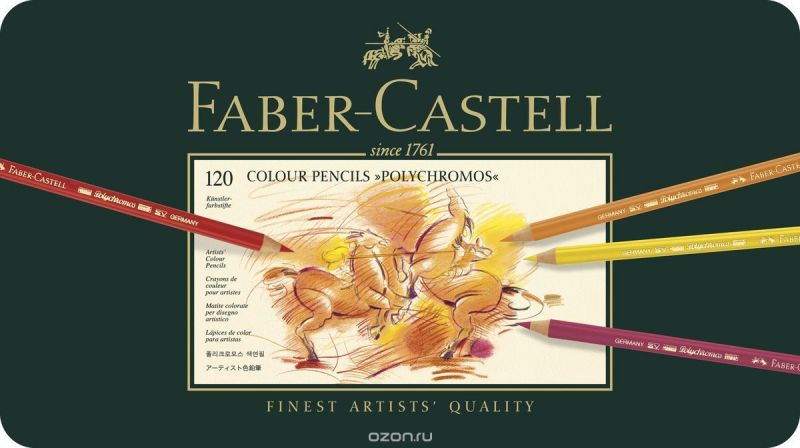Faber-Castell Набор цветных карандашей Polychromos 120 цветов