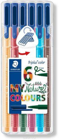 Staedtler Набор фломастеров Triplus Color Натуральные цвета 6 цветов