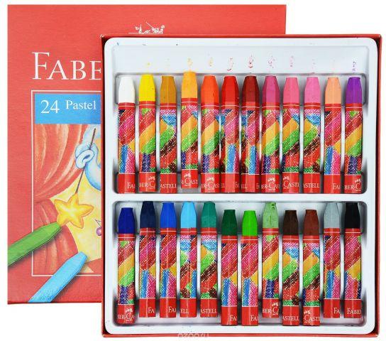 """Масляная пастель """"Faber-Castell"""", 24 цвета"""