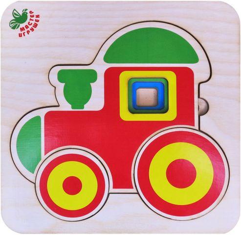 Фабрика Мастер игрушек Пазл многоуровневый Паровозик