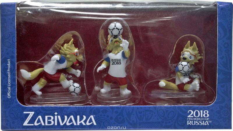 FIFA-2018 Набор фигурок Волк Забивака № 3 Header 3 шт