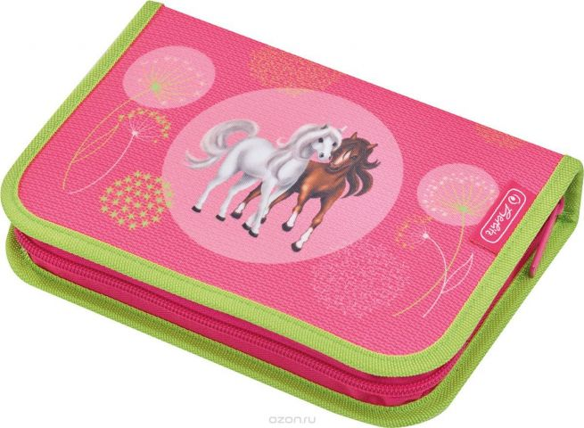 Herlitz Пенал с наполнением Spring Horses 31 предмет