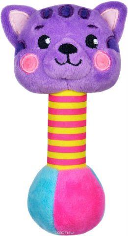 Жирафики Погремушка Котик со звуком