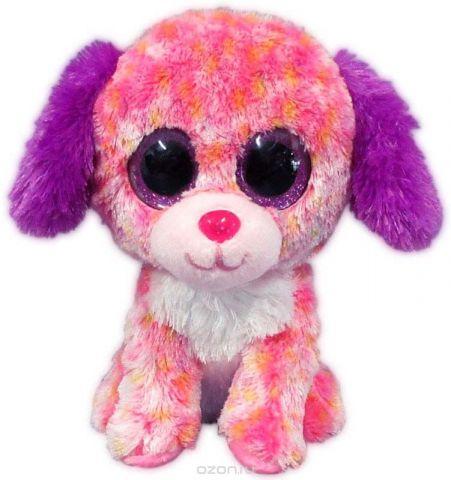 Teddy Мягкая игрушка Собачка цвет светло-розовый 15 см