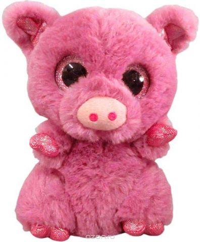 Teddy Мягкая игрушка Свинка цвет розовый 15 см
