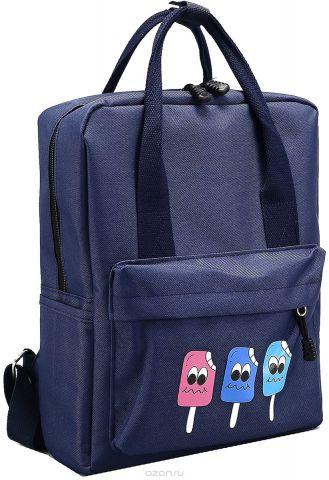 Рюкзак-сумка детский Мороженое цвет темно-синий 2826025