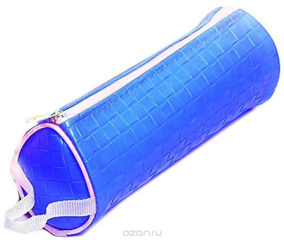 Calligrata Пенал школьный Фактура цвет синий 2879249