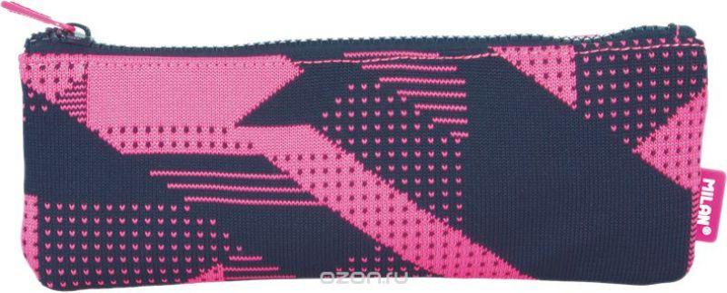 Milan Пенал-косметичка Knit цвет черный розовый