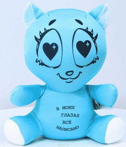 Штучки, к которым тянутся ручки Антистрессовая игрушка Влюбленная кошка цвет голубой